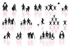 De pictogrammen van de familie Royalty-vrije Stock Fotografie