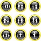 De pictogrammen van de familie Stock Foto