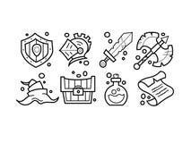 De pictogrammen van de fantasieslag Royalty-vrije Stock Fotografie