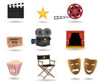De pictogrammen van de film Stock Foto