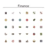 De Pictogrammen van de financiën Rassenbarrière stock illustratie