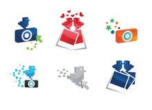 De pictogrammen van de foto vector illustratie