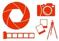 De pictogrammen van de fotografie Royalty-vrije Stock Foto