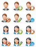 De pictogrammen van de gebruiker Royalty-vrije Stock Afbeeldingen