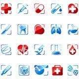 De pictogrammen van de geneeskunde Stock Foto