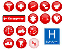 De pictogrammen van de geneeskunde Stock Foto's