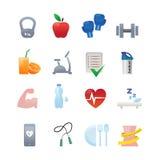De pictogrammen van de geschiktheid Royalty-vrije Stock Afbeeldingen