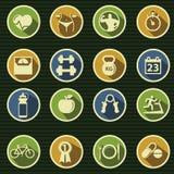 De Pictogrammen van de gezondheid en van de Geschiktheid Royalty-vrije Stock Afbeeldingen