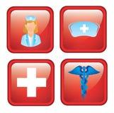 De pictogrammen van de gezondheid Stock Foto's