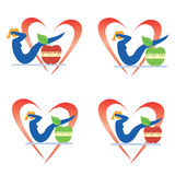 De pictogrammen van de gezondheidsgeschiktheid Stock Afbeeldingen