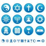 De pictogrammen van de godsdienst Stock Afbeeldingen