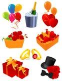 De pictogrammen van de groet Royalty-vrije Stock Fotografie