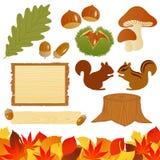 De pictogrammen van de herfst Stock Afbeelding