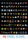 De pictogrammen van de het pixelstijl van de kleur Royalty-vrije Stock Afbeeldingen