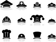 De pictogrammen van de hoed Stock Foto