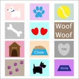 De Pictogrammen van de hond Stock Foto's