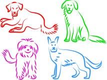 De pictogrammen van de hond royalty-vrije illustratie