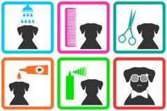 De pictogrammen van de huisdierenzorg Stock Afbeelding