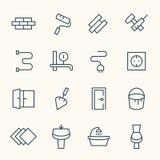 De pictogrammen van de huisreparatie Stock Afbeeldingen