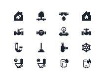 De pictogrammen van de huisvernieuwing Lyrareeks Royalty-vrije Stock Afbeelding