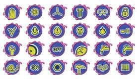 De pictogrammen van de industrie Royalty-vrije Stock Foto