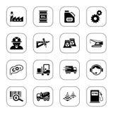 De pictogrammen van de industrie - BW reeks Stock Afbeelding