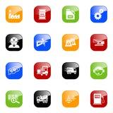 De pictogrammen van de industrie - kleurenreeks Stock Foto