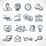 De pictogrammen van de Infographicschets stock illustratie