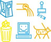 De pictogrammen van de informatie Royalty-vrije Stock Foto's