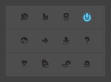 De pictogrammen van de interface Royalty-vrije Stock Afbeeldingen