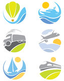 De pictogrammen van de inzameling -- vervoer Royalty-vrije Stock Foto's