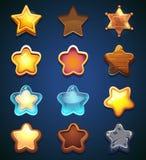 De pictogrammen van de inzamelingsster in verschillende stijl stock illustratie