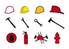 De pictogrammen van de inzamelingsveiligheid Stock Afbeelding