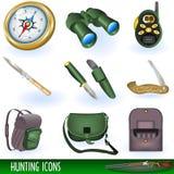 De pictogrammen van de jacht Stock Afbeeldingen