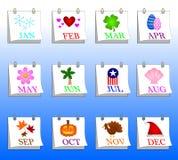 De Pictogrammen van de kalender Royalty-vrije Stock Afbeelding