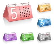 De pictogrammen van de kalender Royalty-vrije Stock Fotografie