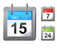 De pictogrammen van de kalender Stock Afbeeldingen