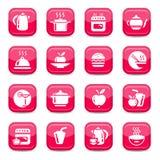 De pictogrammen van de keuken Stock Afbeeldingen