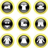 De pictogrammen van de kleding Stock Afbeeldingen