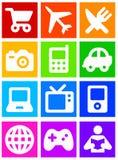 De pictogrammen van de kleur Royalty-vrije Stock Foto