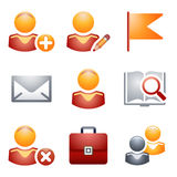 De pictogrammen van de kleur voor website 1 Stock Afbeeldingen