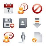 De pictogrammen van de kleur voor website 2 Royalty-vrije Stock Afbeelding