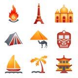 De pictogrammen van de kleur voor website 22 Royalty-vrije Stock Foto