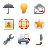 De pictogrammen van de kleur voor website 9 Royalty-vrije Stock Foto's