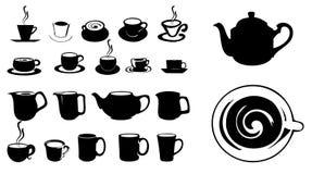 De pictogrammen van de koffie Stock Foto