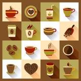 De pictogrammen van de koffiekop Royalty-vrije Stock Fotografie