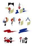 De pictogrammen van de kunst Stock Foto's
