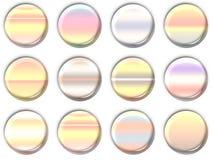 De pictogrammen van de lens Stock Fotografie