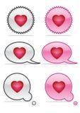 De pictogrammen van de liefde Stock Afbeeldingen