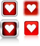 De pictogrammen van de liefde. royalty-vrije illustratie